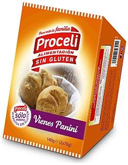 Proceli Pan Vienes Panini sin Gluten proceli (2 unidades) 140 gr