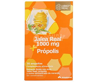 ARKOREAL Jalea Real con miel, própolis y zumo concentrado de naranja, 300 ml