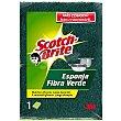 Estropajo de fibra verde con esponja Pack 1 unid Scotch Brite