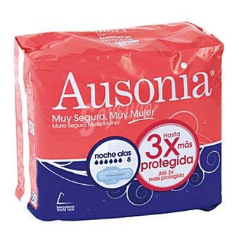 Ausonia Compresa noche con alas Bolsa 8 ud
