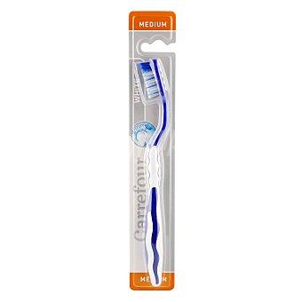 Carrefour Cepillo dental blanqueador medio 1 ud