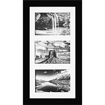 HERGON Marco Múltiple 3 ventanas de 20 x 40 cm en color negro