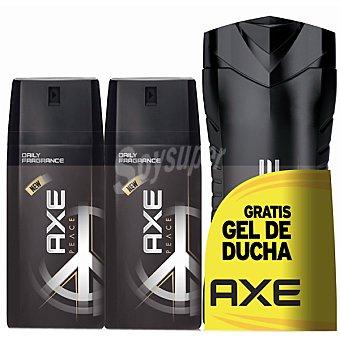 Axe Desodorante Peace pack 2 spray 150 ml con regalo de una gel de ducha Pack 2 spray 150 ml