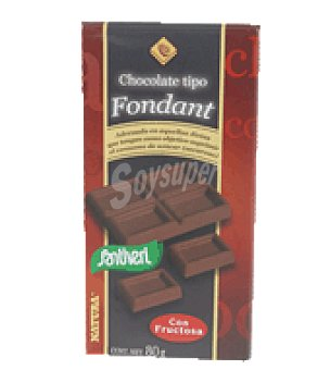 Santiveri Tableta chocolate fondant+fructosa 80 g