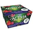 Yogur con bífidus naturales y frutos del bosque Pack 4 x 125 g Activia Danone