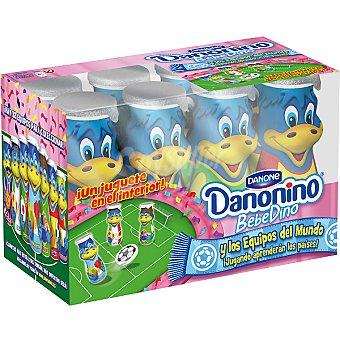 Danone Danonino Bebedino Mundial de fresa Pack 8x100 ml