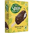 Bombón helado 100% vegetal con chocolate y avellanas 3 unidades Estuche 330 ml Savia Danone