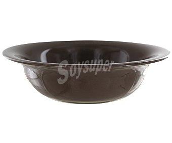 Auchan Ensaladera de 24 centímetros, fabricada en vidrio de color marrón 1 Unidad