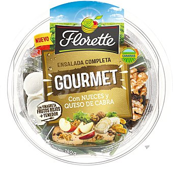 Florette Ensalada Completa Gourmet con nueces y queso de cabra tarrina 180 g tarrina 190 g tarrina 180 g