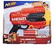 Pistola lanzadora de dardos Nerf Tri-Break con 3 dardos de foam inlcuidos nerf n-strike Tri-Break  Nerf