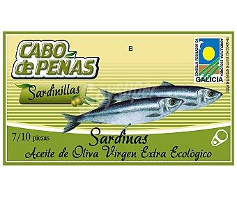 Cabo de Peñas Sardinas en aceite de oliva virgen extra ecológico 60 gramos