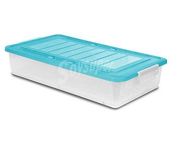 Araven Bajo cama multiúsos fabricado en plástico transparente con tapa de color azul o morado araven