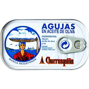 A Churrusquiña Agujas de las rías en aceite de oliva Lata 85 g neto escurrido
