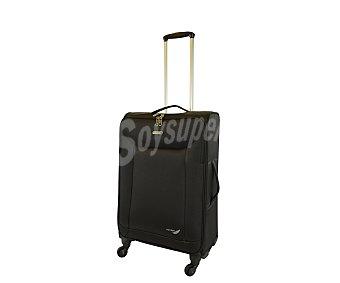AIRPORT Maleta de 4 ruedas de nylon, flexible y de color negro, medida: 62 centímetros 62cm