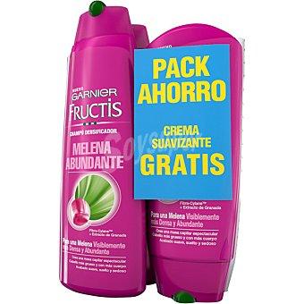 FRUCTIS Champú densificador Melena Abundante 2 frascos de 300 ml