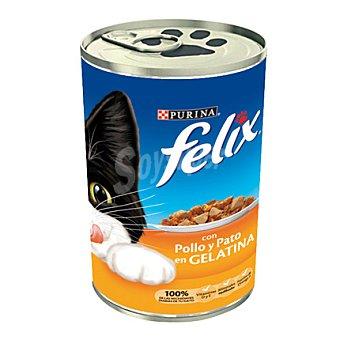 Felix Purina Comida para gatos Pollo y Pato Lata 390 gr