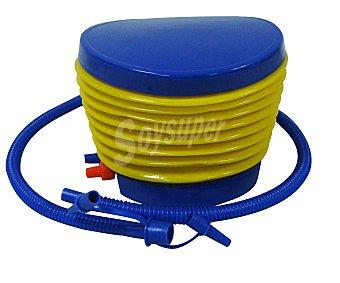EURASPA Hinchador de pie tipo fuelle de 18x10 centímetro, compatible con la mayoria de colchones, colchonetas y flotadores 1 unidad