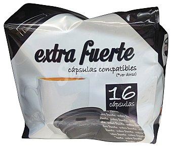 COCATECH Café cápsula (compatible cafetera dolce gusto*(marca de grupo societe des produits nestle, S.A. no relacionada con cocatech, s.l.)) extrafuerte Paquete 16 u