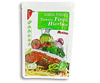 Auchan Salsa Tomate Finas Hierbas 200g