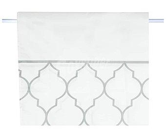 Actuel Cortina de ducha 180x200cm. 100% poliéster color blanco estampado Geométrico ACTUEL.