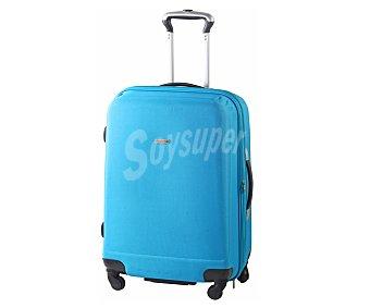 AIRPORT Maleta de 4 ruedas de goma eva, flexible y expansible, color azul 1 Unidad