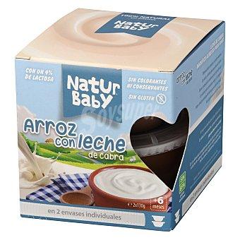 Naturbaby Tarritos de arroz con leche de cabra Pack 2x130 g