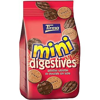 TIRMA Mini Digestive Galletitas cubiertas de chocolate con leche bolsa 100 g Bolsa 100 g