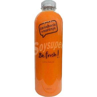 BE FRESH Zumo de naranja y zanahoria natural botella 1 l 1 l