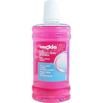 Veckia Elixir dientes y encías sensibles sin alcohol frasco 500 ml protege contra la caries