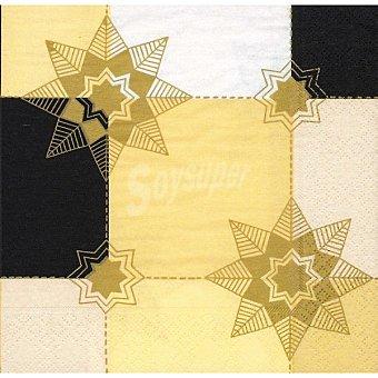 Papstar Servilletas decorado estrellas doradas Paquete 20 unidades