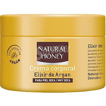Natural Honey Crema corporal Elixir de Argán para piel seca / muy seca Tarro 250 ml