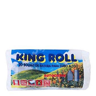 KING Bolsa basura cubo alto 50X75 gris/negro aut roll