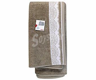 AUCHAN Toalla para baño de algodón, estampado jacquard color marrón, 100x150 centímetros 1 Unidad