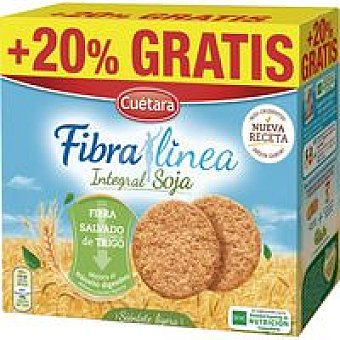 CUÉTARA Galleta fibra integral con soja caja 660 g