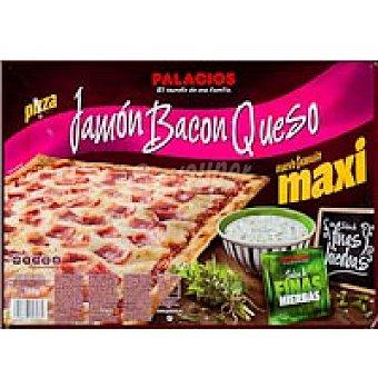 Palacios Pizza rectangular de jamón-queso Caja 580 g