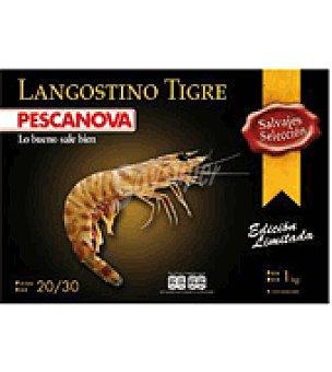 Pescanova Langostino tigre salvaje 20/30 pzas. Caja de 1 kg