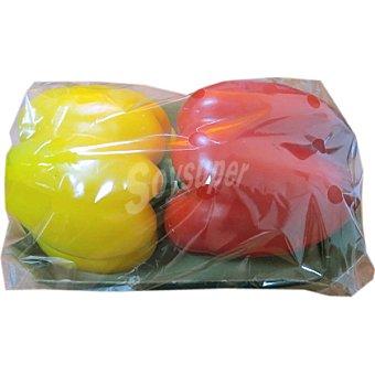 Pimiento bicolor rojo y amarillo ecológico Bandeja 400 g