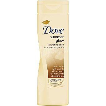 Dove crema corporal piel Dorada loción autobronceante piel normal  frasco 250 ml