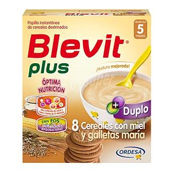 Blevit Papilla 8 cereales con miel y galletas María Plus Duplo 600 g