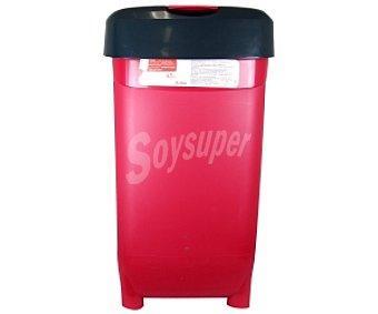 Auchan Cubo de basura rojo-negro 45 Litros 1 Unidad