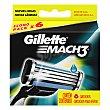 Cargador para afeitar 6 ud Gillette Mach3
