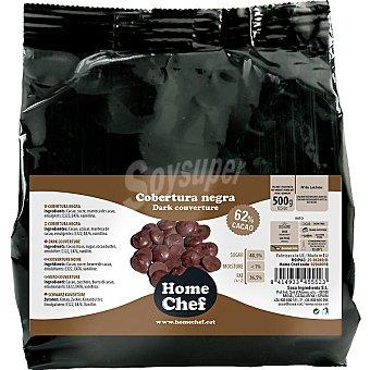 HOME CHEF Cobertura negra 62% cacao envase 500 g