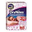 Braguitas para niñas absorbentes de 8 a 15 años Paquete 13 uds DryNites