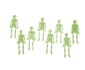 My other me Complemento para decoración Halloween, Bolsa de esqueletos fluorescentes de 14 centímetros Esqueletos fluorescentes