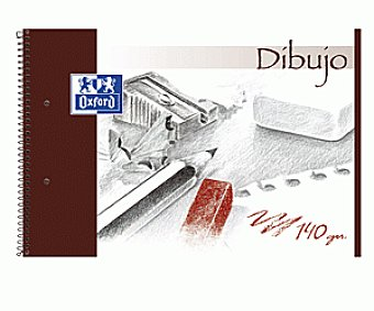 Oxford Bloc Dibujo Fº Microp 20 Hojas Liso y 2 Taladros Tapa Dura 1 Unidad
