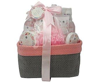 Enjoy Cesta regalo con productos con coco e hibisco para el cuidado y la higiene corporal holiday