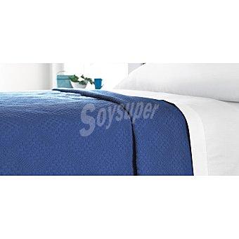 CASACTUAL Handmade Colcha jacquard en color azul para cama 90 cm