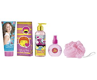 Disney Estuche de belleza infantil, incluye colonia de 40 mililitros, gel de baño de 200 mililitros, loción corporal de 165 mililitros, 50 gramos de sales de baño y esponja, Soy Luna 1 unidad