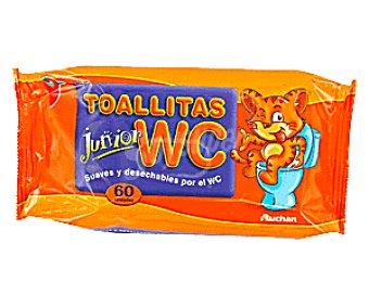 Auchan Toallitas WC Junior 60 Unidades