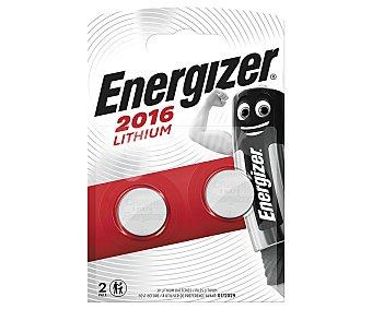 Energizer Pilas de litio CR2016 (botón) 3V 2 unidades